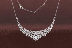 Swarovski Crystal & Sterling Silver Princess Necklace