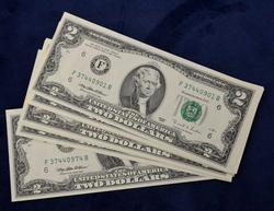 15 x CU 1995 $2 Bills