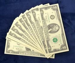 40 x CU 1995 $2 Bills, Short Sequences