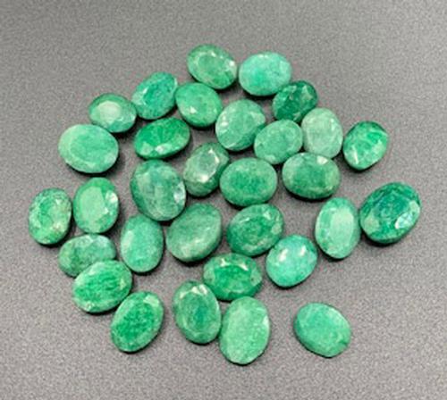 Group Lot of Green Beryl Loose Gemstones