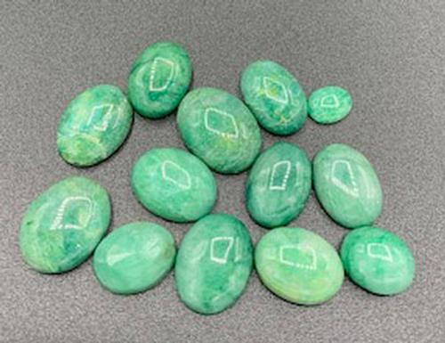 Eye Catching Group of Green Beryl Gemstones