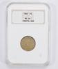 MS64 1867 Shield Nickel - Without Rays - NGC Graded