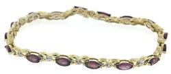 Beautiful Diamond and Garnet Tennis Bracelet