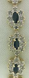 Elegant Blue Sapphire and Diamond Tennis Bracelet