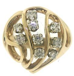 Charming Diamond Freeform Ring