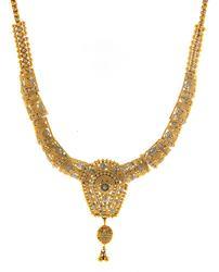 21kt Set of two tone Filgree Design Necklace & Earrings