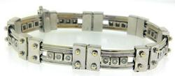 Gents Diamond Slide White Gold Bracelet