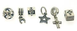 Group Lot of 6 Pandora Luck Charms