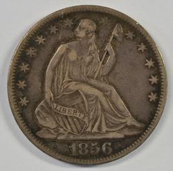 Scarce 1856-O Seated Liberty Half Dollar in XF