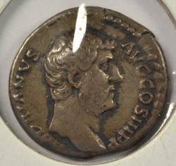 Scarce Hadrian Roman Silver Denarius, 117-138 AD