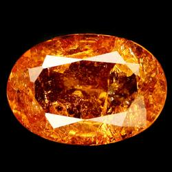 Fiery 6.66ct glowing orange Spessartite Garnet