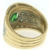 Fantastic Oval Tsavorite and Diamond Ring