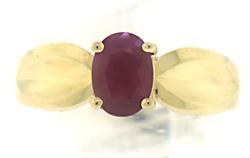 Pretty Oval Ruby Ring