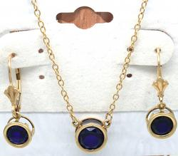 Beautiful Understated Sapphire Necklace and Earrings