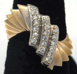 Vintage Stylized Art Deco Diamond Ring