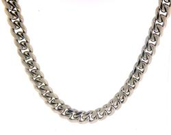 Charming 8mm Dome Curb Link Chain Necklace