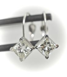 Sparkly 1 Ct. T.W. Diamond Earrings