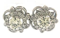 Remarkable White Gold 2ct Diamond Earrings