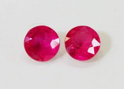 Intense Natural Pink Sapphire Pair - 1.06 cts.