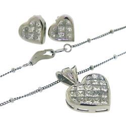 Platinum apx 3.50ctw Invisible Set Princess Cut Diamond
