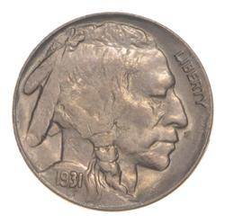 1931-S Indian Head Buffalo Nickel