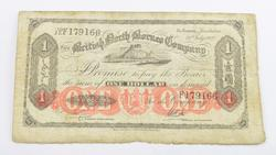 1927 British North Borneo Company $1 Dollar Note