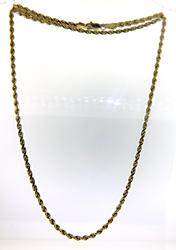 Always Stylish Twisted Rope Chain in Yellow Gold