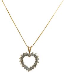 Lovely Heart Shaped Diamond Necklace