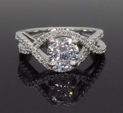 1.02CTW Diamond Engagement Ring