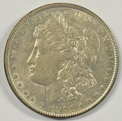 Lustrous key date near mint 1901-P Morgan Silver Dollar