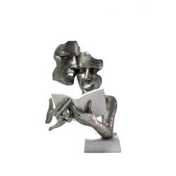 Silver and White Modern Modeling Couple reading Book