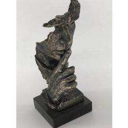 Silence Sculpture With Base Cold Cast Statue