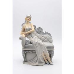 Girl Resting on Sofa Cold Cast Sculpture