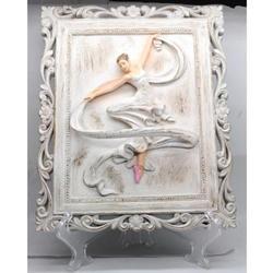 Ballerina Figurine Dancing Cold Cast Sculpture