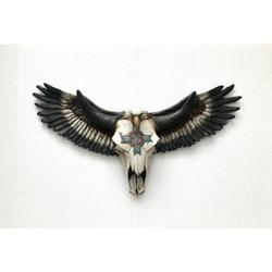 Cow Skull with American Flying Eagle