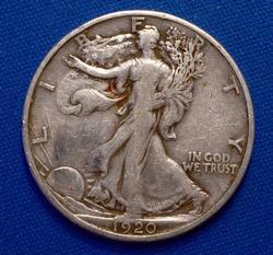 1920-S Walking Half Dollar Circ