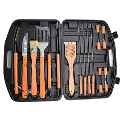 18 PCS Stainless-Steel Barbecue Set with Storage Case