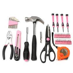 39Pcs Pink Repair Tool Set Household Kit Repair Box