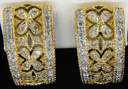 Eye-Catching Diamond & Gold J Earrings