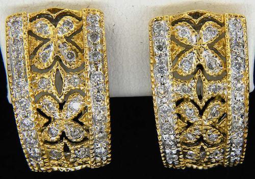 Eye-Catching Diamond & Gold J Earrings