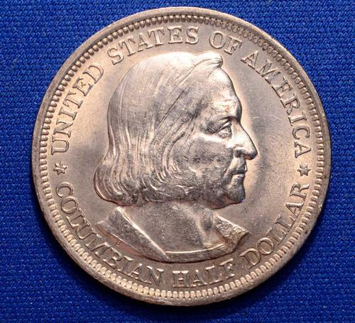 Near Unc 1893 Columbian Expo Commem Half Dollar