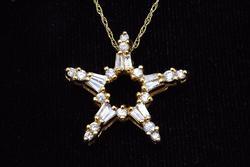 Diamond Star Pendant on Fine Chain