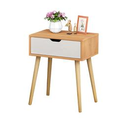 Bedside Desk Standing Table Modern Cabinet Storage