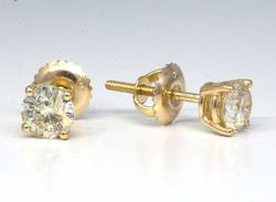 Awe-Inspiring 1.08CTW Diamond Earrings