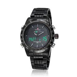 Men Digital Analog Quartz Sports Wristwatch Clasp Type