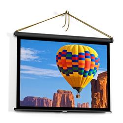 40-inch HD Projection Screen Manual Pull Up Folding