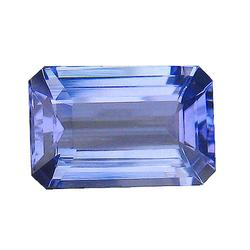 Vivid 3.22ct violet blue emerald cut Tanzanite
