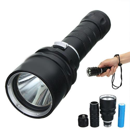 2000LM High Power Waterproof Diving LED Flashlight