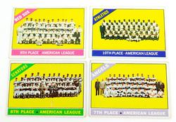 4 Topps 1966 Team Cards