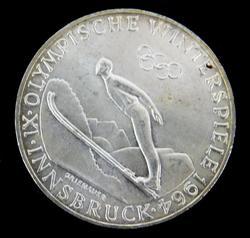 1964 Innsbruck Winter Olympics Silver Coin